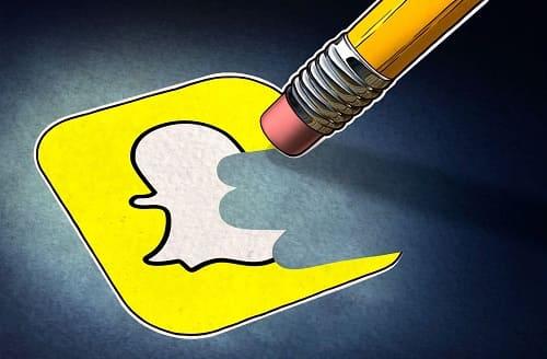 como remover a conta do snapchat