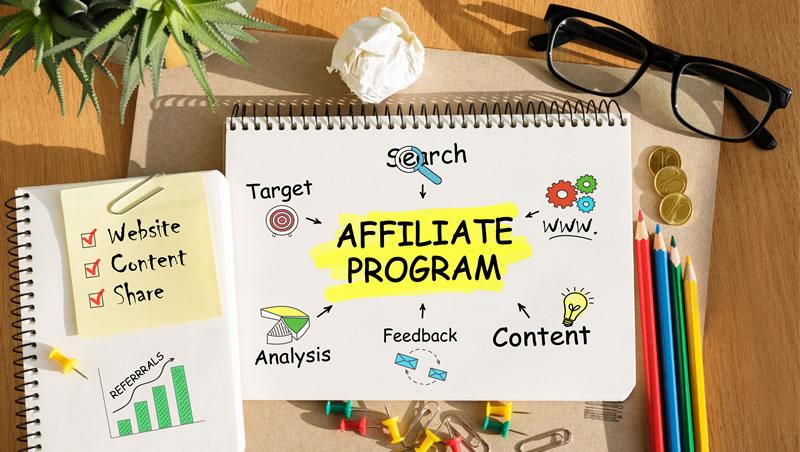 Participe de programas para afiliados